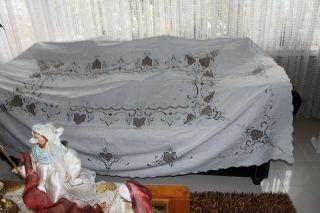 , Weihnach Idee,  Groß Hochzeit Tischdecke,  Nadel Stickerei,  Stickerei,  160x240 Bild