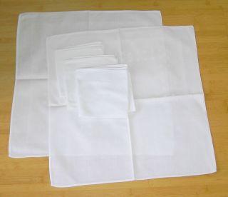 5 Servietten - Damast - 45 X 45 Cm - Weiß Bild