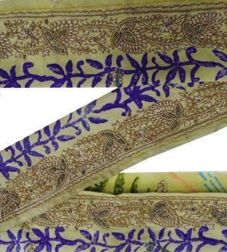 Weinlese - Indien Craft Sari Border Gestickte Trim Nähen Lace 1yd Band Grün Bild