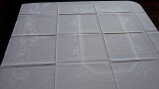 Tischdecke Tafeltuch Weiß Feinster Damast 2,  70 M X 1,  24 M Top Bild