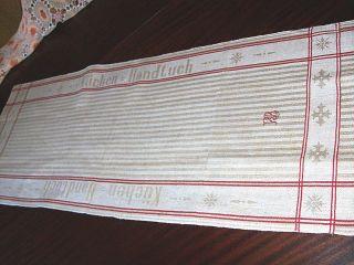 Antikes Bauernleinenen Handtuch Schrift RaritÄt Monogramm Rs 110/42cm Bild