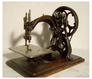 Nähmaschine Sewing Machine Machine à Coudre Willcock&gibbs Ab 1871 Bild