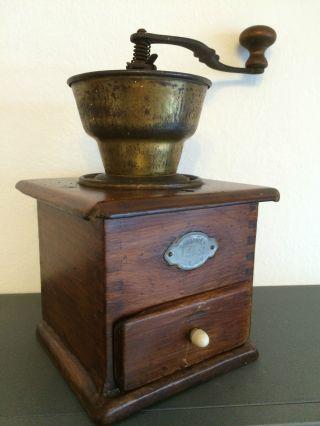 Alte/antike Manuelle Kaffeemühle Leinbrocks Ideal.  Rarität.  Coffee Grinder. Bild