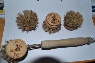 BÜrste Lola Spülbürste Holz Metall D.  R.  G.  M.  Haushalt Bild