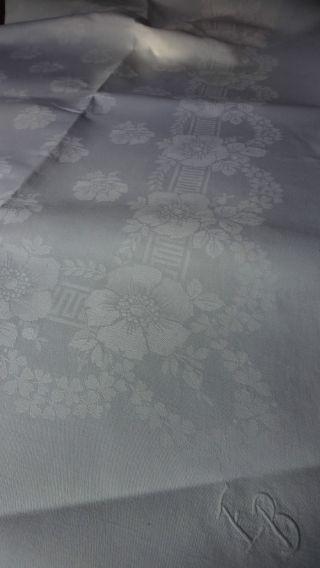 Große Tischdecke - Reines Leinen - 235 X 152 Monogram Bild