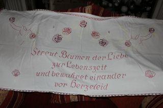, Weihnach Idee,  Antik Wandbehange Rot Engel Stickerei,  Spruch Bild