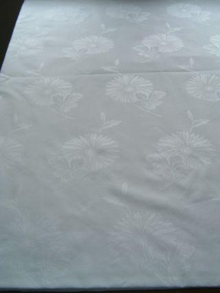 Tischdecke /tafeltuch,  Damast,  Weiss,  Blüten - Design,  380x150 Cm Bild