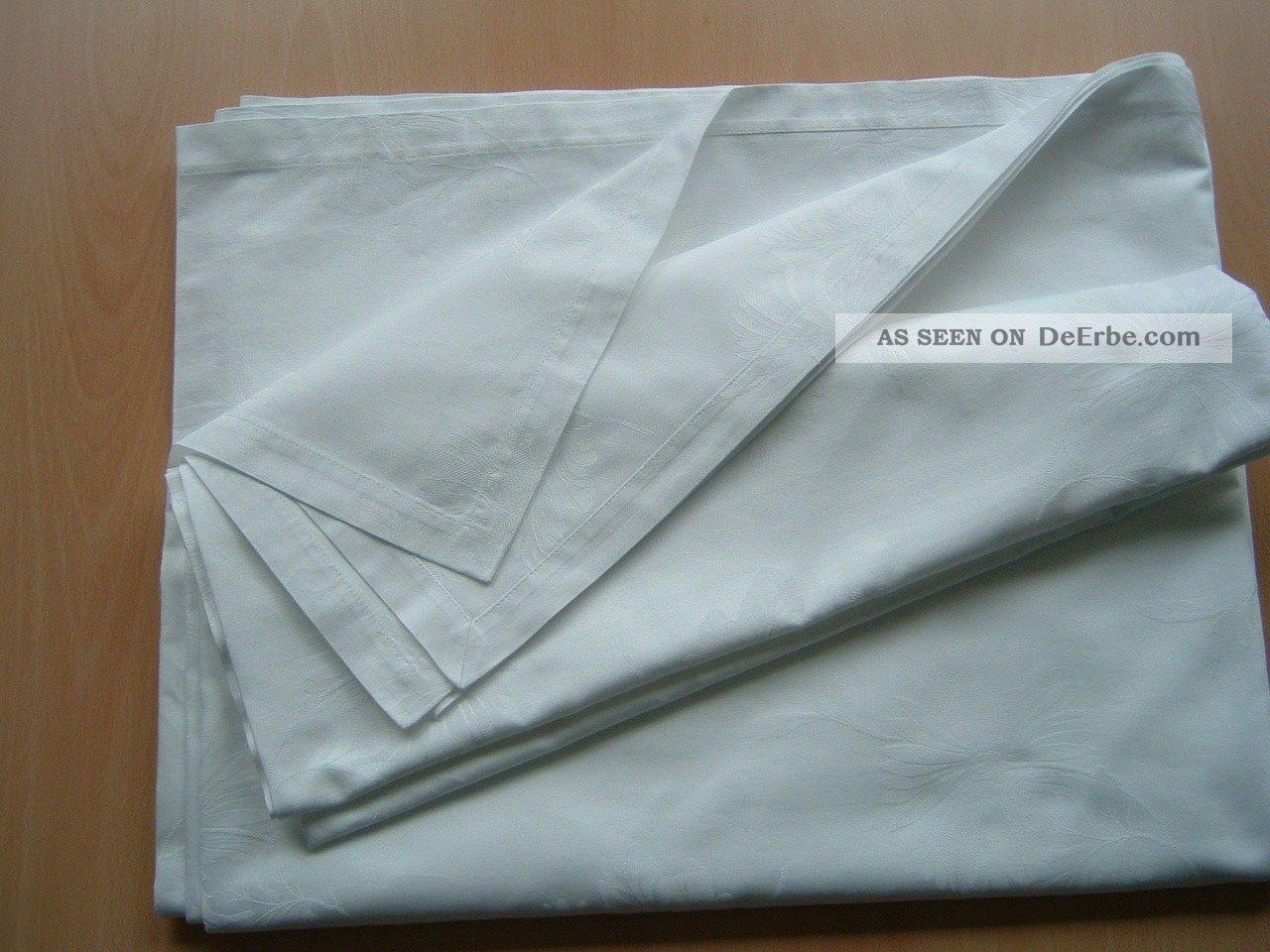 tischdecke tafeltuch damast weiss bl ten design 380x150 cm. Black Bedroom Furniture Sets. Home Design Ideas