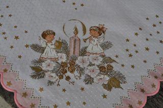 Edle Mitteldecke Tischdecke Weihnachten Engel Traum Top Bild