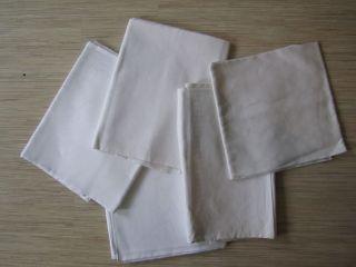 5 X Alte Tischdecken - Weiß - Verschiedene Größen Bild