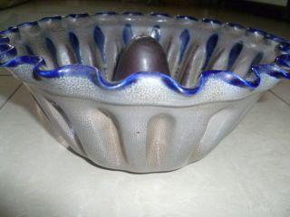 Backform Napfkuchen Keramik Steingut Grau Blau Bild