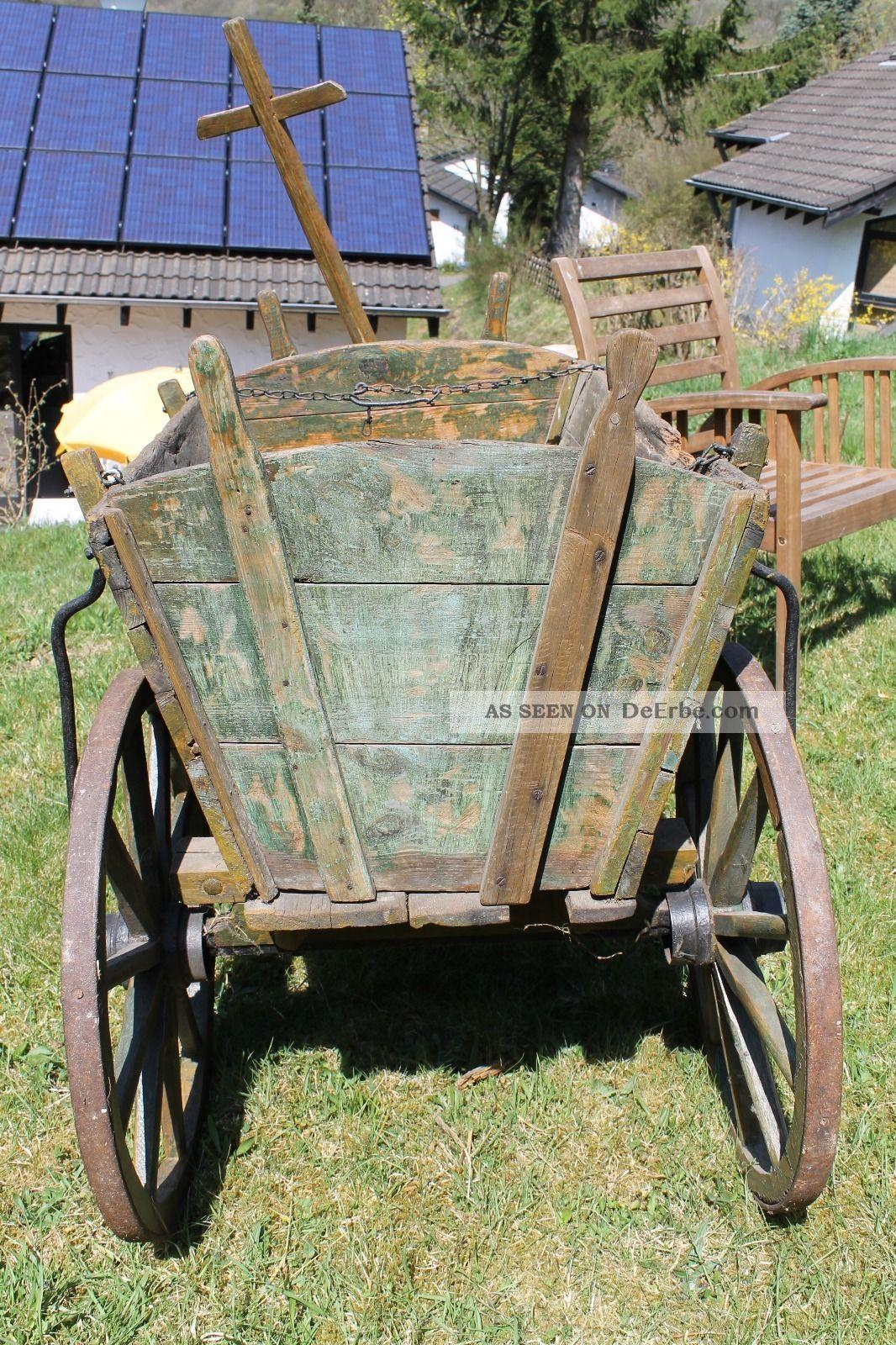 alter bollerwagen handwagen aus holz ma e. Black Bedroom Furniture Sets. Home Design Ideas
