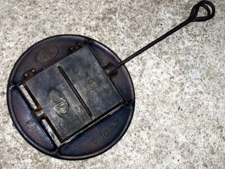 Altes Großes Guss Waffeleisen Wifa 9 Mit Ofenring Kohleherd Waffle Iron Fer Bild