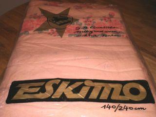 2 Vintage BetttÜcher Bettlaken Rosa Rosenmuster Ca.  60er Ovp Bild