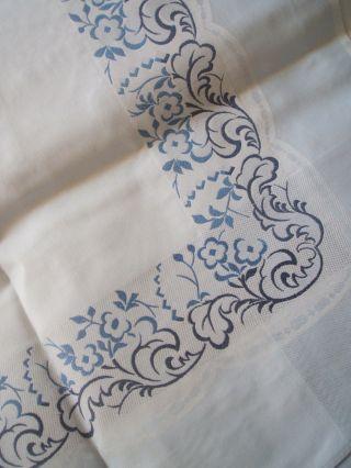 Irisette Tischdecke Decke Hellblau M.  Borde 130x160 Bild