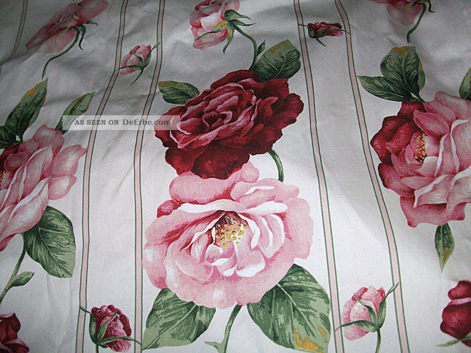 1 Paar Wunderschöne Landhausgardinen Englische Rosen Top 165135cm