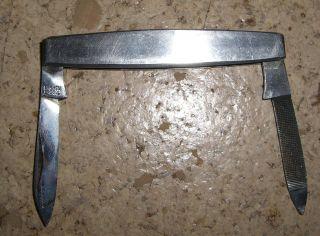 Altes Kleines Taschenmesser 65 Mm Lang Silberfarbenes Edelstahl Bild