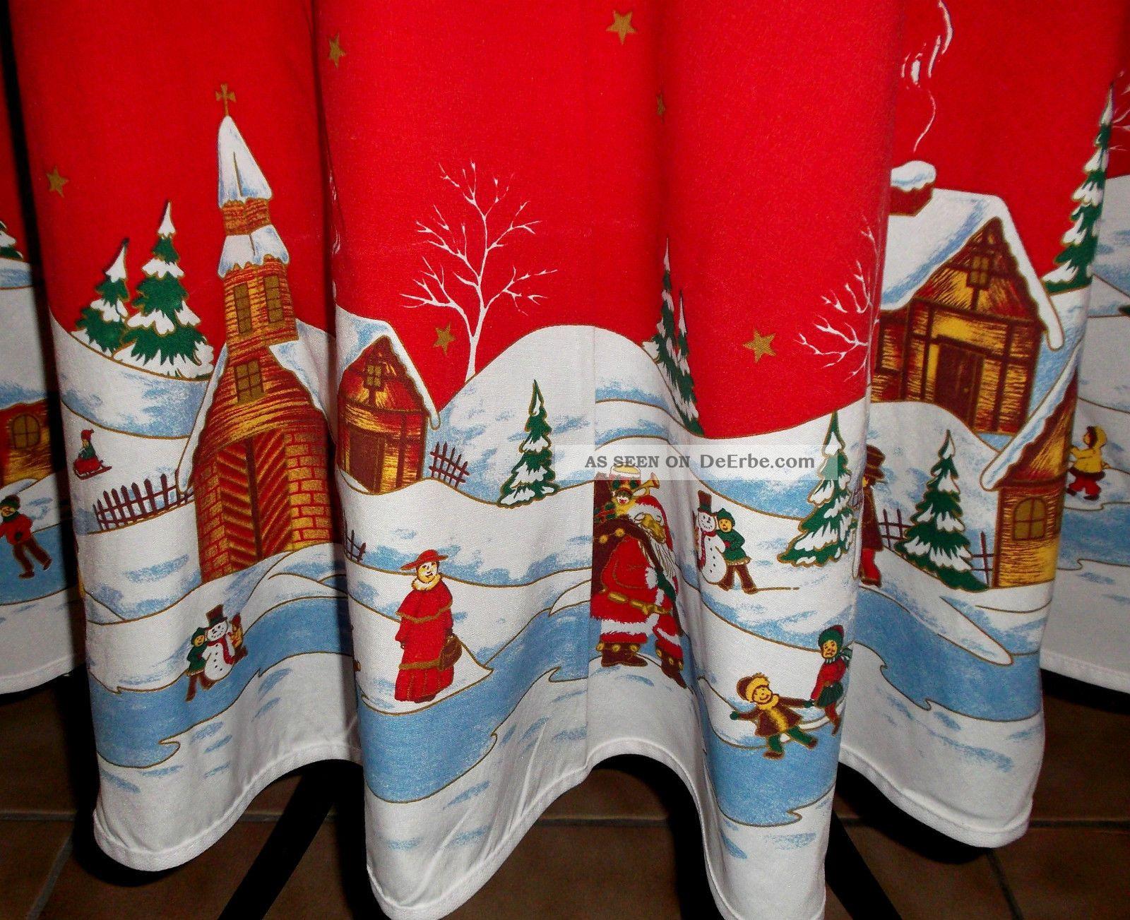 tischdecke weihnachten rund mit weihnachtlicher idylle 144 cm. Black Bedroom Furniture Sets. Home Design Ideas