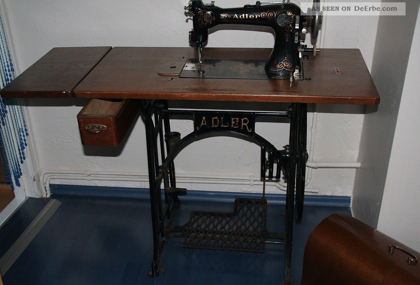 antike adler n hmaschine im originalzustand von uroma. Black Bedroom Furniture Sets. Home Design Ideas