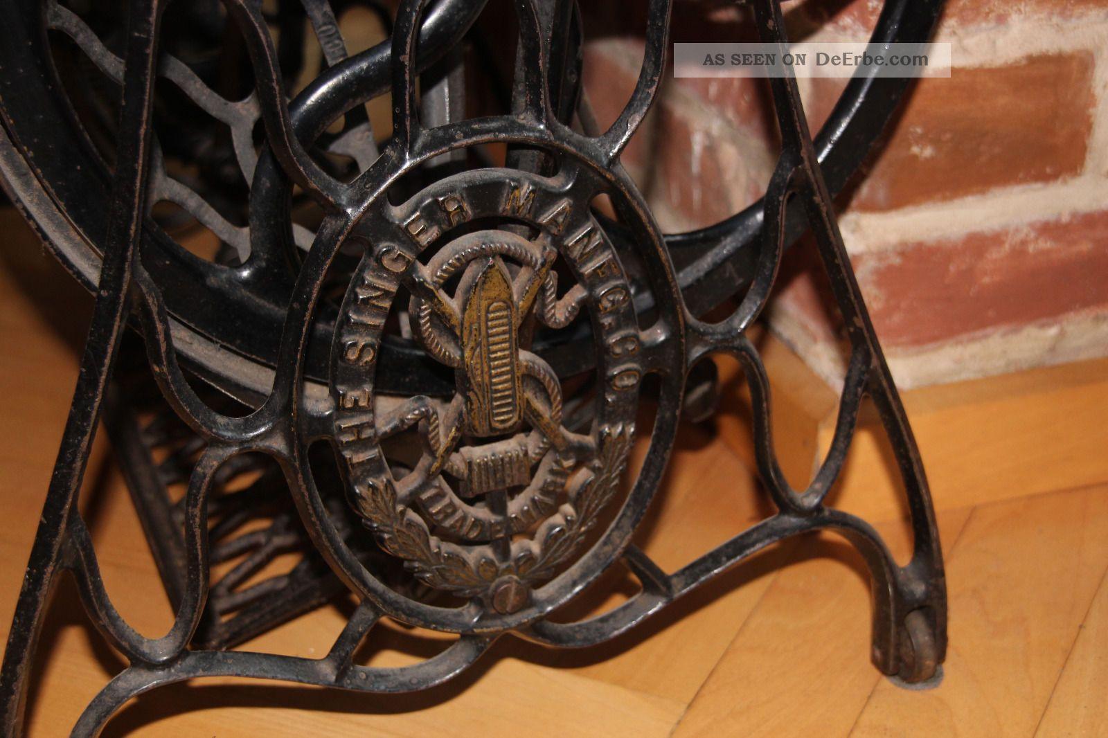 alte antike singer n hmaschine funktionst chtig gu eisen. Black Bedroom Furniture Sets. Home Design Ideas