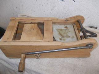 Sehr Seltene Alte Holz Brotschneidemaschine,  Brotschneider,  Brotmaschine Bild