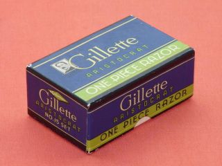 Karton Für Gillette British Aristocrat No 15 Von 1938 Empty Shipper Box Bild