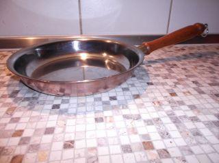 Kupferpfanne Bräter Holzgriff Bratpfanne 43cm L Mit Holzgriff Zum Aufhängen Bild