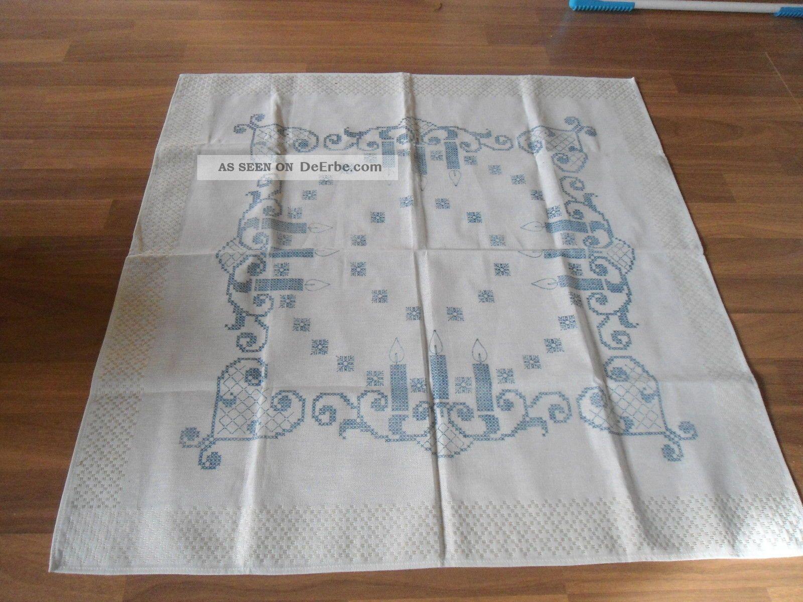tischdecke zum aussticken ohne garn. Black Bedroom Furniture Sets. Home Design Ideas