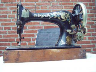 Alte Nähmaschine Singer Antik Ca.  1900 Deko Bild