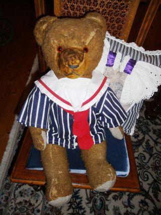 Teddybär Alt Antik Großer Matrosenbär