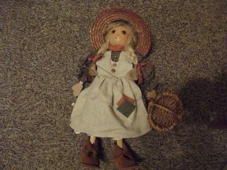 Gehlmann Veen Marionette Handgefertigte Holzmarionette Mädchen Deko Neuwertig Bild