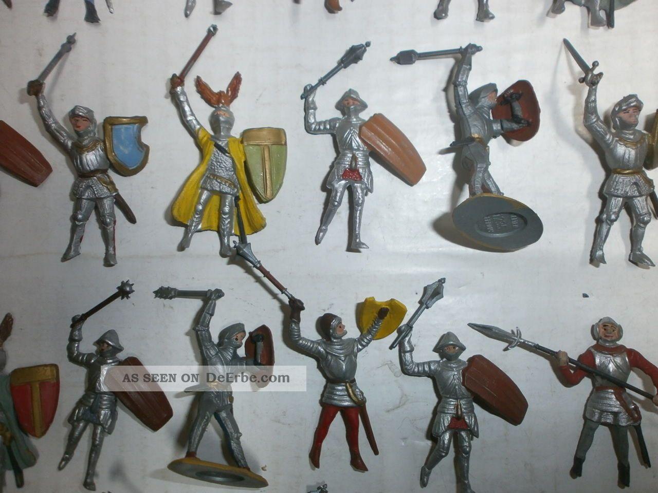 konvolut 40 alte handbemalte merten kunststoff figuren ritter umh nge zu 4cm. Black Bedroom Furniture Sets. Home Design Ideas