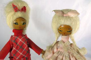 Seltene Holzpuppen Aus Polen 1970er Jahre Schrill Puppe Doll Bild