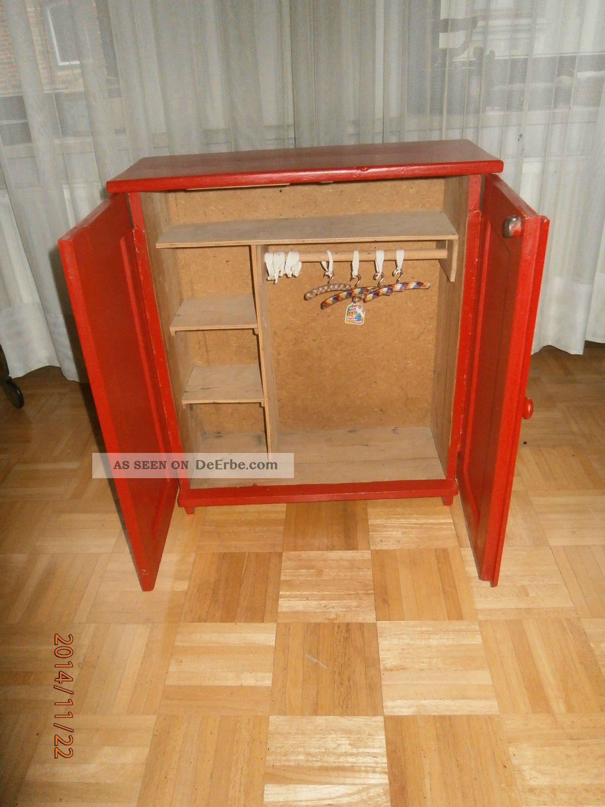 Puppenkleiderschrank Kleiderschrank Für Puppen Aus Holz Mit ...