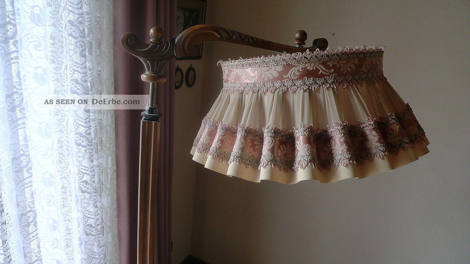 Stehlampe leselampe nostalgie lampe mit tisch holz for Lampen nostalgie