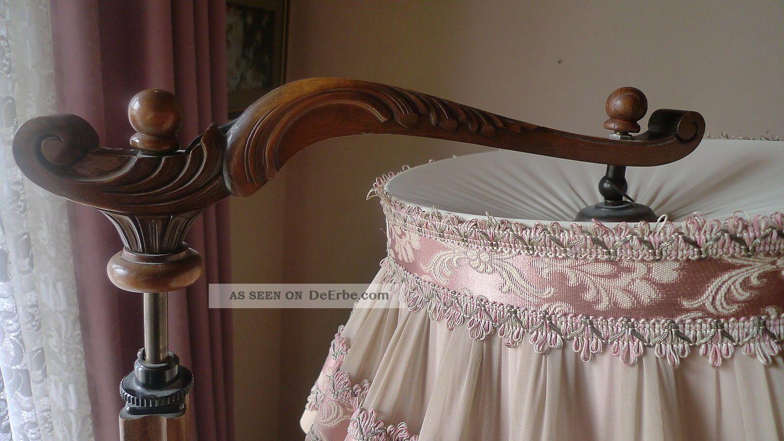 stehlampe leselampe nostalgie lampe mit tisch holz glastisch alt bitte lesen. Black Bedroom Furniture Sets. Home Design Ideas