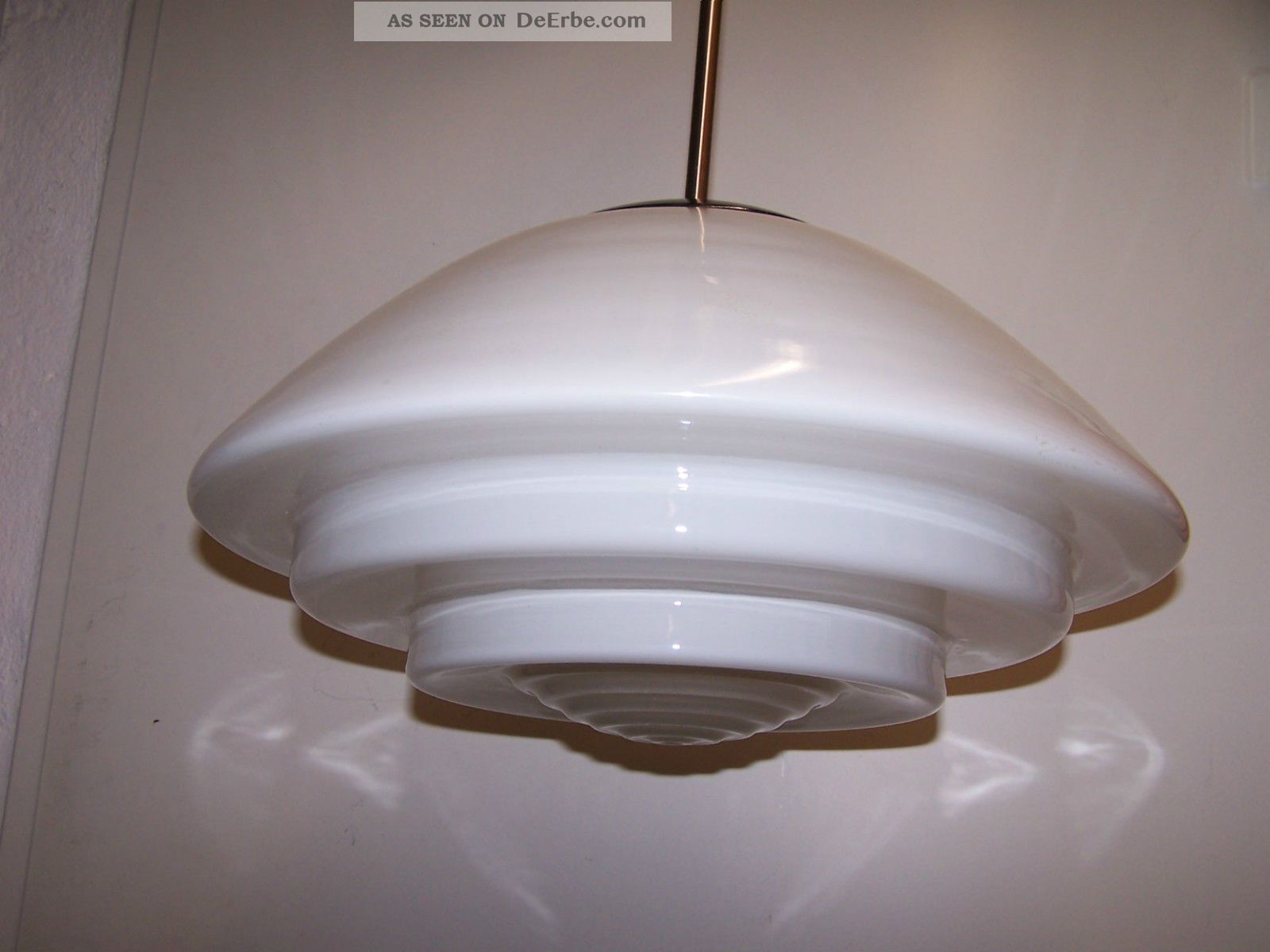 Grosse Bauhaus Lampe Deckenlampe Mithras Getreppt Opalglas Art Deco
