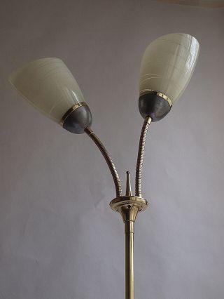 Antike Stehlampe Mit Tütengläsern,  50er - Jahre Bild