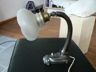 Antike Tischlampe Schreibtischlampe Jugendstil Keine Reproduktion Bild