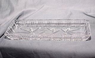 Federschale Kammschale Bleikristall,  Aufwändig Geschliffen,  Schleuderstern Bild