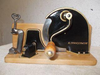Aufgearbeitete Alte Alexanderwerk Brotschneidemaschine,  Brotmaschine,  Brotschneide Bild