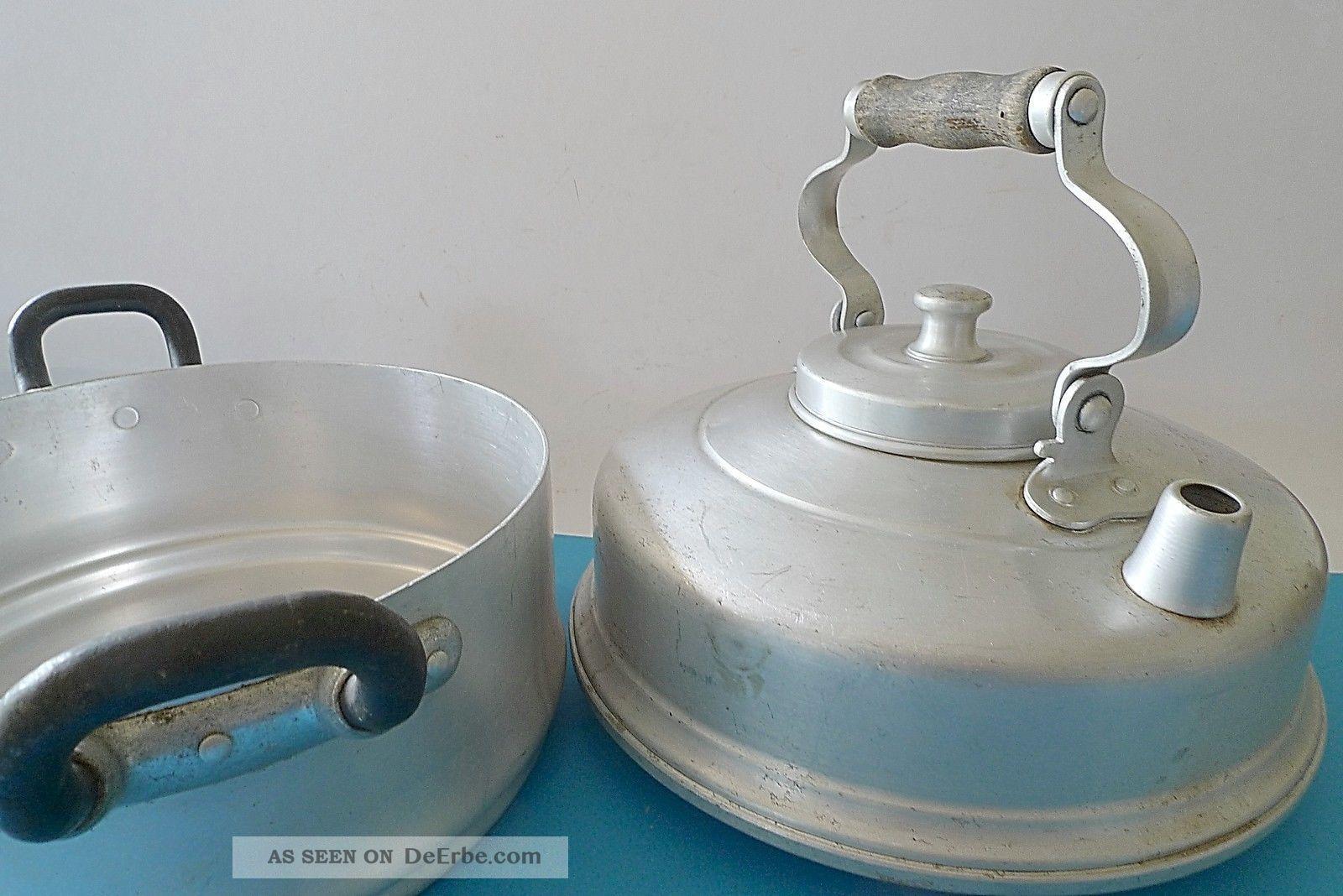 alter wasserkessel mit kochtopf aluminium vor 1945 fa ritter made in germany. Black Bedroom Furniture Sets. Home Design Ideas