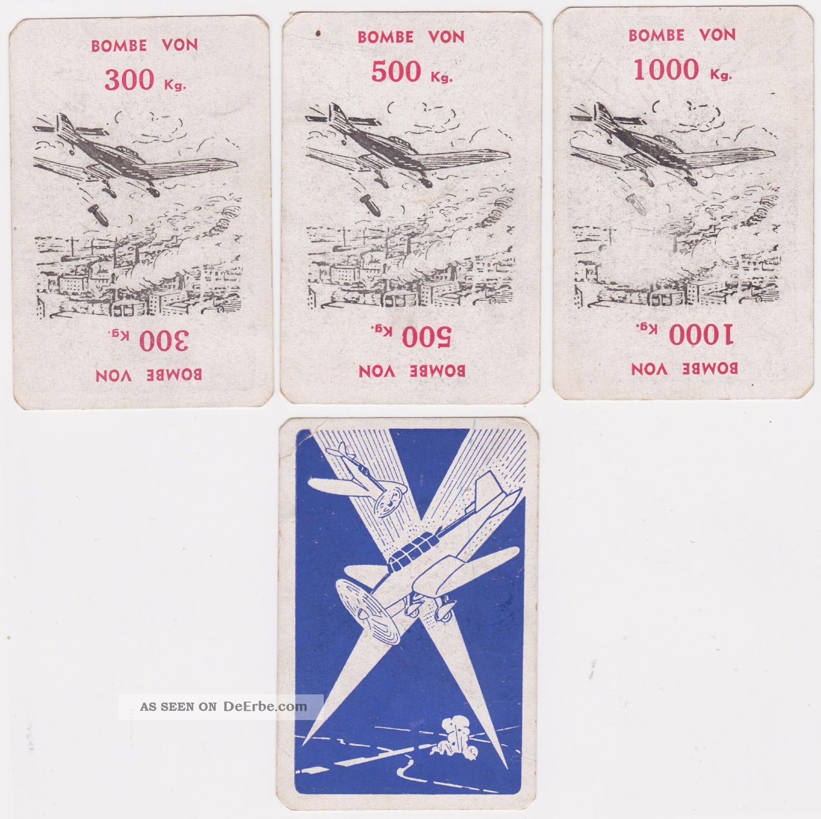 Luftgefechtspiel Alarm Von Jeve 56 Karten, Komplett Mit Spielregeln