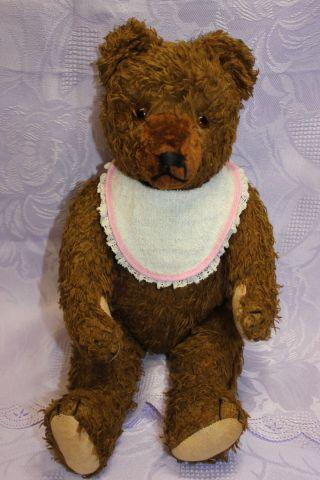 Alter Teddybär Brau Aus Den 50er Jahren 36 Cm Bild