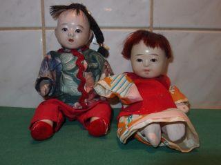 Alte Japanische Babypuppen Osuwari Ningyo Bild