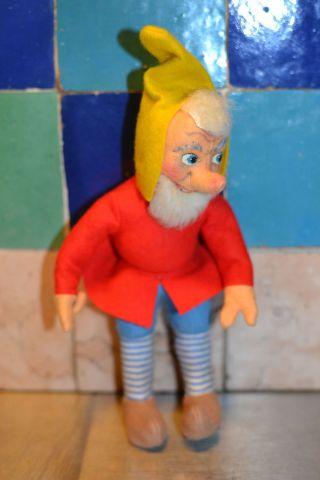 Kersa Zwerg Bam Handarbeit Stoffpuppen Biegsam 50 - 70 Er Jahre Figur Dwarf Bild