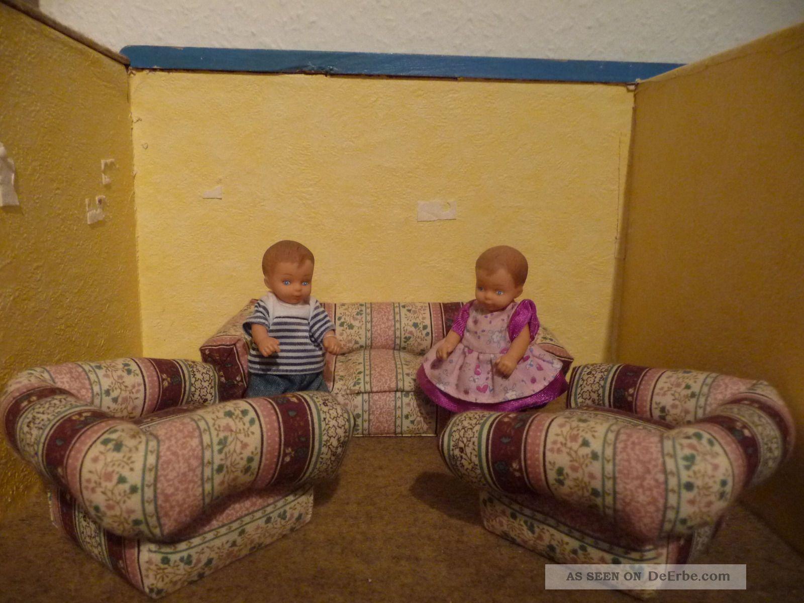 puppenstubenm bel sofa mit 2 sesseln und p ppchen. Black Bedroom Furniture Sets. Home Design Ideas