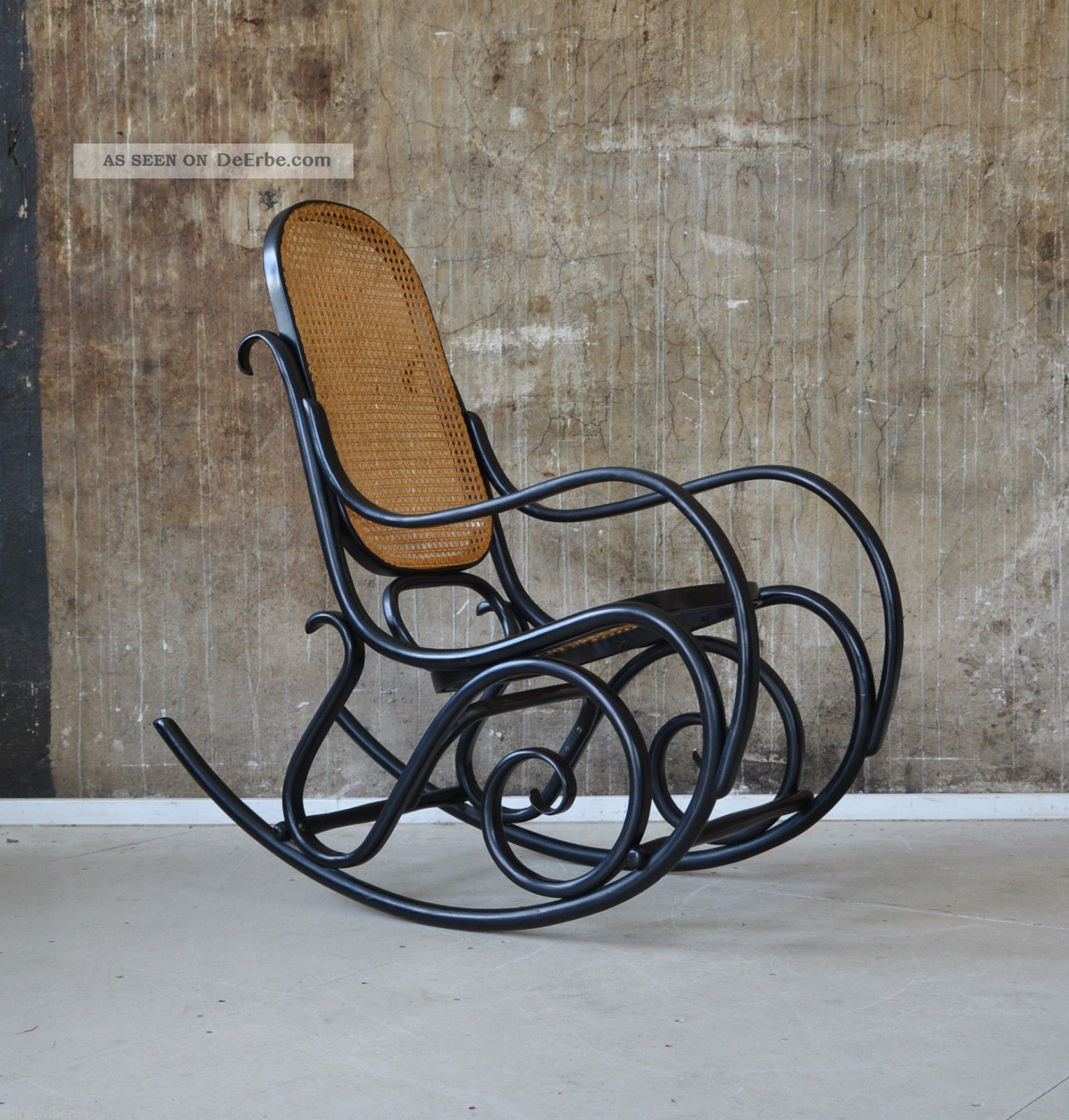 Thonet schaukelstuhl bugholz rocking chair michael thonet for Schaukelstuhl thonet