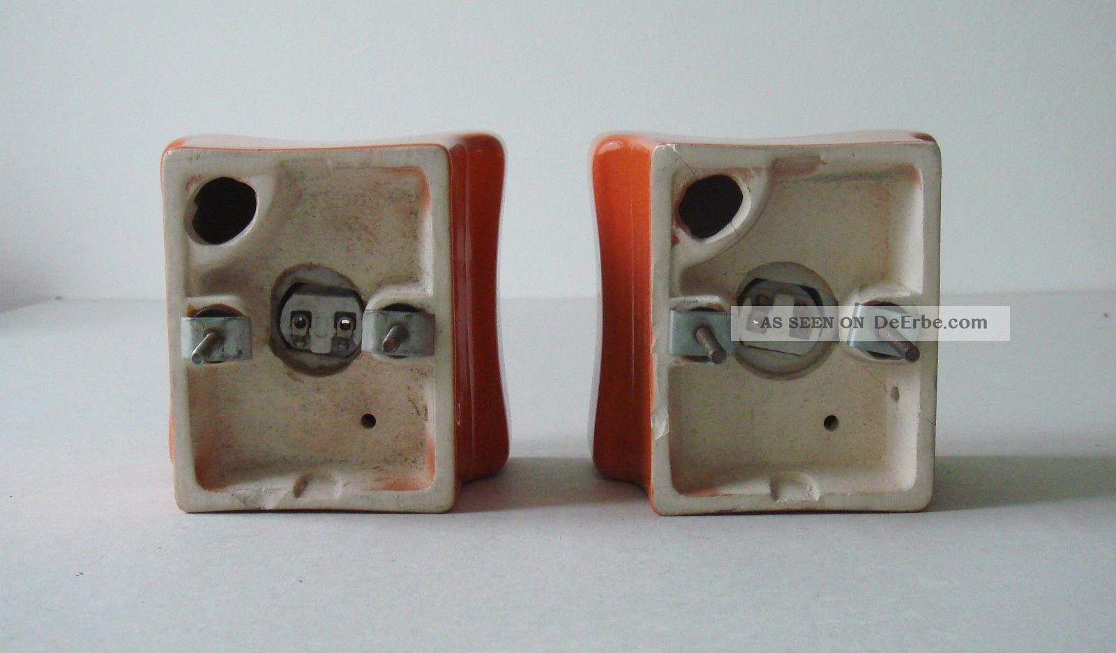 keramik wandlampe deckenlampe orange vintage design lampe 1960er 1970er ra. Black Bedroom Furniture Sets. Home Design Ideas