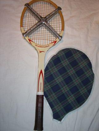 Toller Alter Tennisschläger 60er – 70 Er Jahre Slazenger Princes Bild